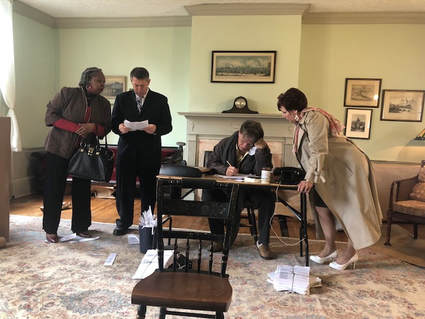 Students try out early music instruments